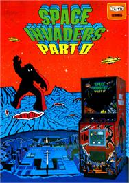 Advert for Space Invaders Part II on the Arcade.