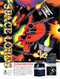Advert for Space Lords on the Arcade.