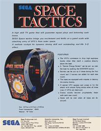 Advert for Space Tactics on the Arcade.