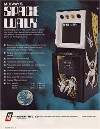 Advert for Space Walk on the Arcade.