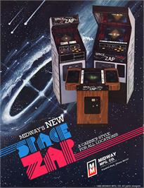 Advert for Space Zap on the Arcade.