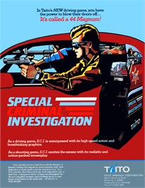 Advert for Special Criminal Investigation on the Sega Master System.