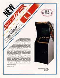 Advert for Speed Freak on the Arcade.