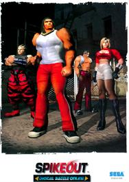 Advert for Spikeout Final Edition on the Sega Model 3.