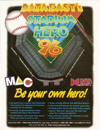 Advert for Stadium Hero 96 on the Arcade.
