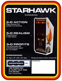 Advert for Star Hawk on the Arcade.