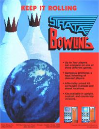 Advert for Strata Bowling on the Arcade.