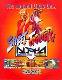 Advert for Street Fighter Alpha: Warriors' Dreams on the Sony PSP.