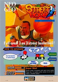 Advert for Street Hoop / Street Slam / Dunk Dream on the Arcade.
