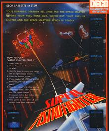 Advert for Super Astro Fighter on the Arcade.