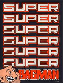 Advert for Super Bagman on the Arcade.