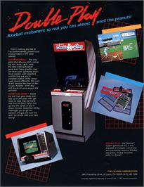 Advert for Super Baseball Double Play Home Run Derby on the Arcade.