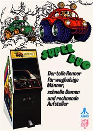 Advert for Super Bug on the Arcade.