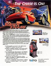 Advert for Super Chase - Criminal Termination on the Arcade.