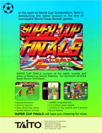 Advert for Super Cup Finals on the Arcade.
