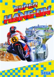 Advert for Super Hang-On on the Arcade.