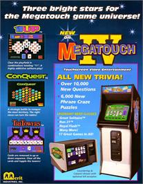 Advert for Super Megatouch IV on the Arcade.