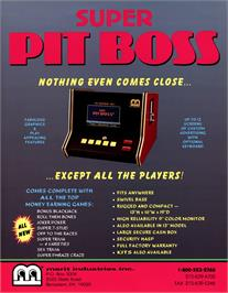 Advert for Super Pit Boss on the Arcade.