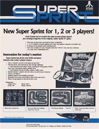 Advert for Super Sprint on the Arcade.