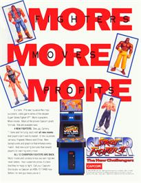 Advert for Super Street Fighter II: The New Challengers on the Arcade.