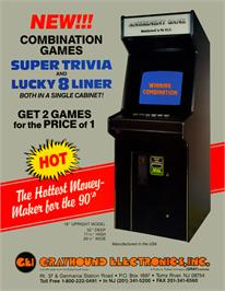 Advert for Super Trivia Master on the Arcade.