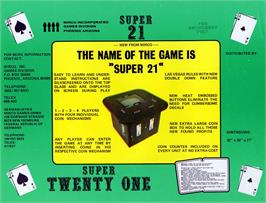 Advert for Super Twenty One on the Arcade.