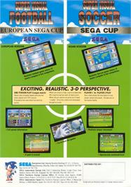 Advert for Super Visual Soccer: Sega Cup on the Arcade.