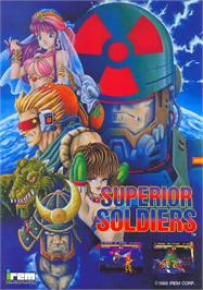 Advert for Superior Soldiers on the Arcade.
