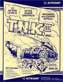 Advert for T.N.K III on the Arcade.