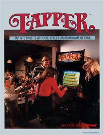 Advert for Tapper on the Amstrad CPC.