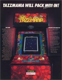 Advert for Tazz-Mania on the Arcade.