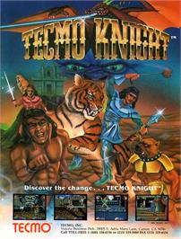 Advert for Tecmo Knight on the Arcade.