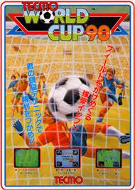 Advert for Tecmo World Cup '90 on the Arcade.