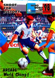 Advert for Tecmo World Cup '98 on the Arcade.