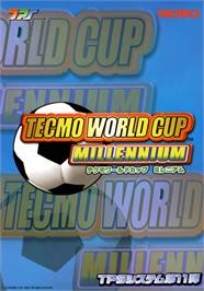 Advert for Tecmo World Cup Millennium on the Arcade.