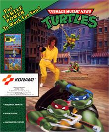 Advert for Teenage Mutant Hero Turtles on the Arcade.