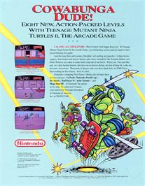 Advert for Teenage Mutant Ninja Turtles II: The Arcade Game on the Arcade.