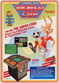 Advert for Tehkan World Cup on the Arcade.