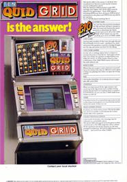 Advert for Ten Quid Grid on the Arcade.