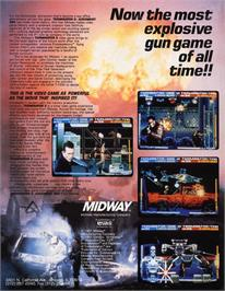 Advert for Terminator 2 - Judgment Day on the Arcade.