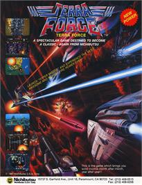 Advert for Terra Force on the Arcade.