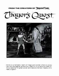 Advert for Thayer's Quest on the Arcade.
