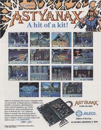Advert for The Astyanax on the Arcade.