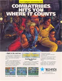 Advert for The Combatribes on the Arcade.