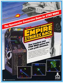 Advert for The Empire Strikes Back on the Arcade.