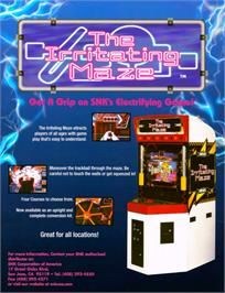 Advert for The Irritating Maze / Ultra Denryu Iraira Bou on the Arcade.
