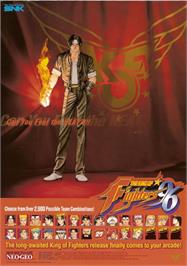 Advert for The King of Fighters '96 on the Arcade.