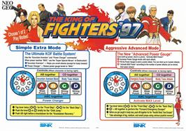 Advert for The King of Fighters '97 Plus on the Arcade.