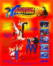 Advert for The King of Fighters '98 - The Slugfest / King of Fighters '98 - dream match never ends on the Arcade.