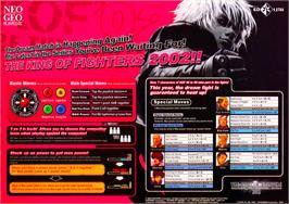 Advert for The King of Fighters 2002 Plus on the Arcade.
